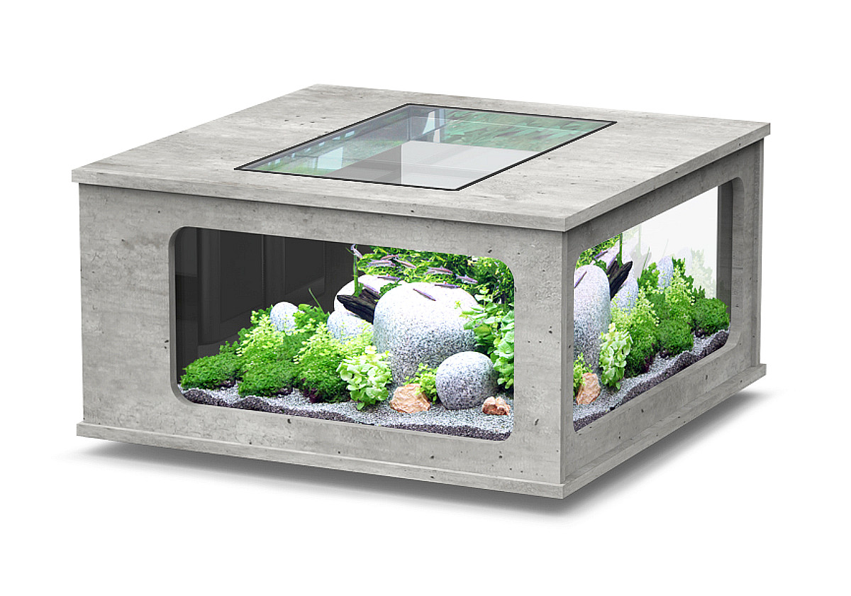 aquarium aquatlantis aquatable led 100x100 steinoptik 310. Black Bedroom Furniture Sets. Home Design Ideas