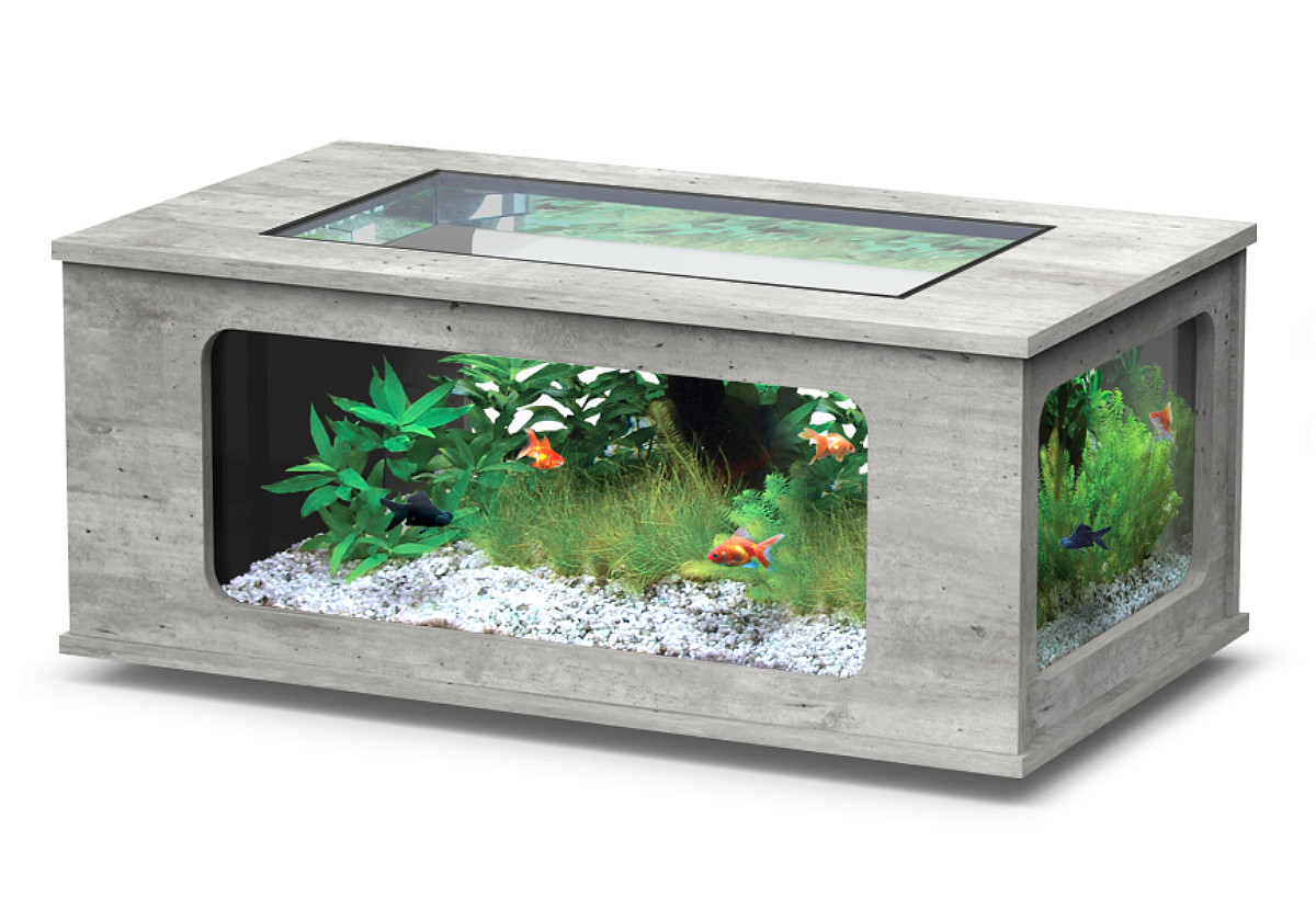 Aquarium Aquatlantis Aquatable LED 130 Steinoptik 300 Liter