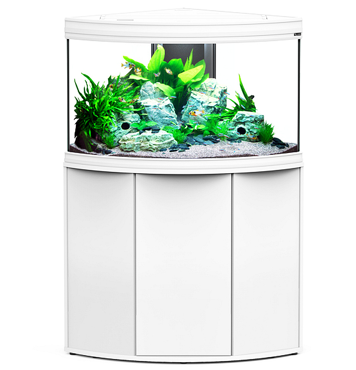 aquarium aquatlantis fusion corner 100 led eckaquarium wei 190 liter. Black Bedroom Furniture Sets. Home Design Ideas