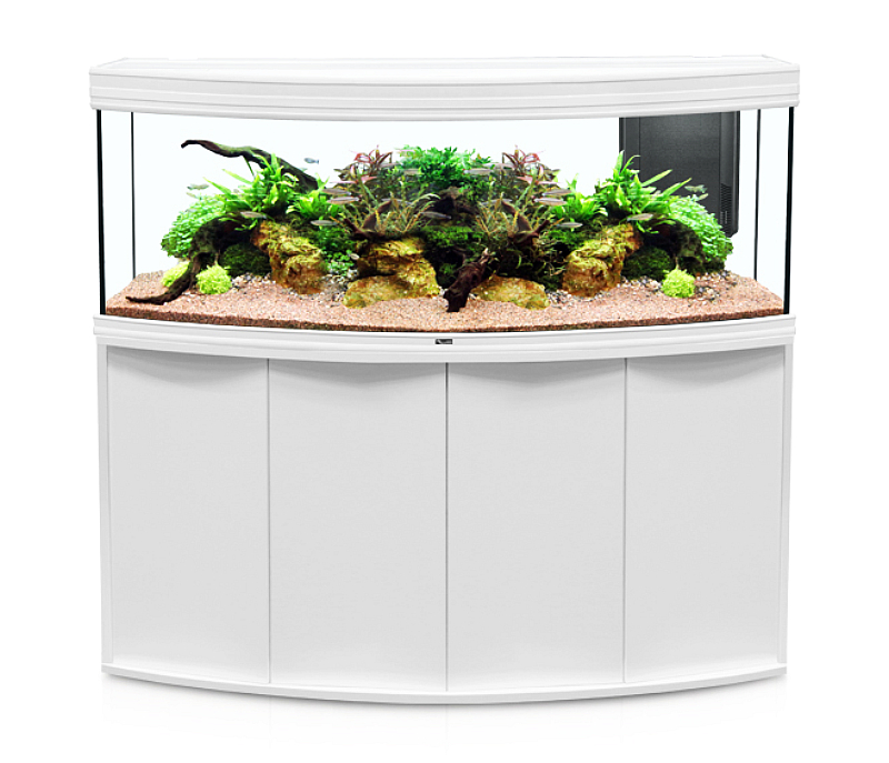 aquarium aquatlantis fusion horizon 150x55 led kombination wei 368 liter. Black Bedroom Furniture Sets. Home Design Ideas