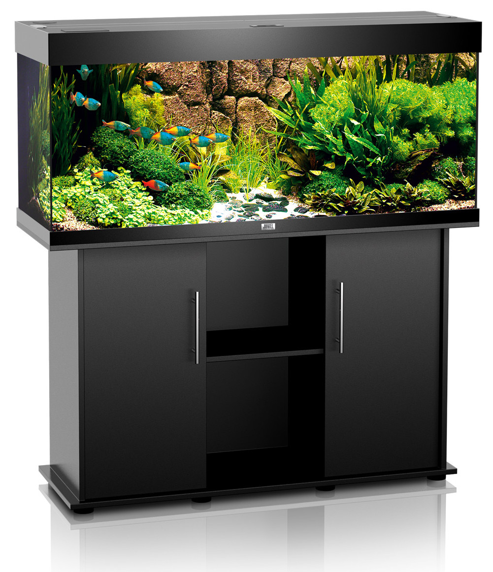 juwel rio 240 kombination aquarium unterschrank schwarz. Black Bedroom Furniture Sets. Home Design Ideas